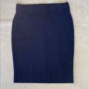 Elle Blue Chevron Pencil Skirt